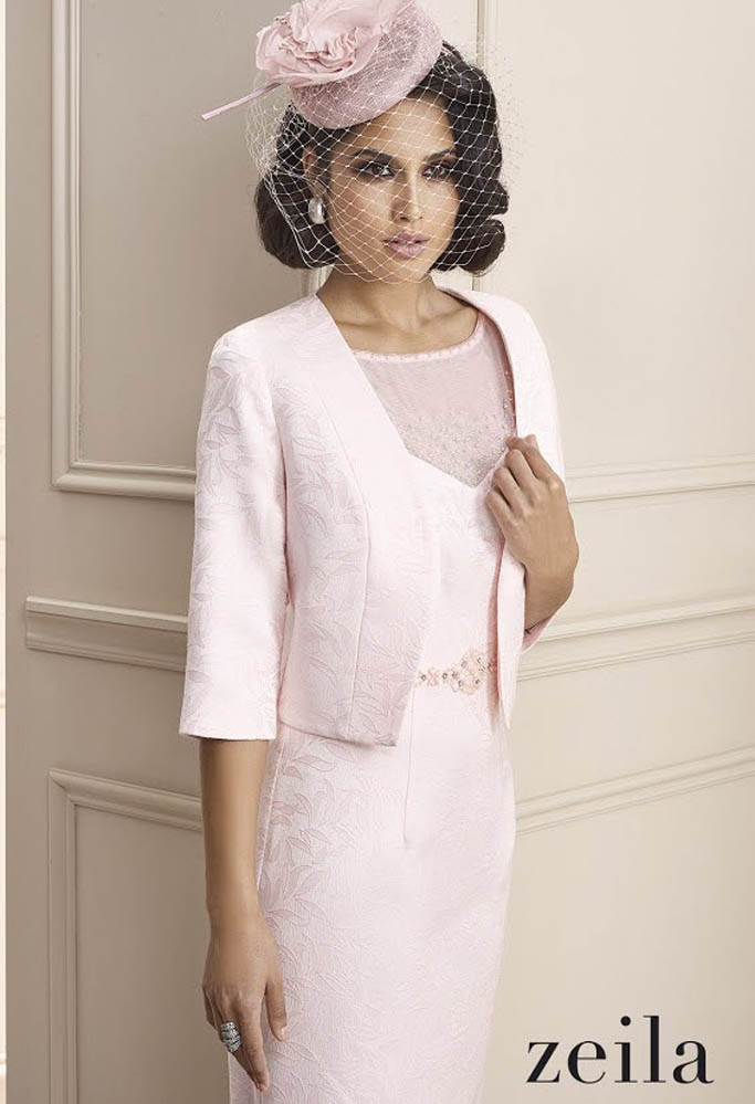 b47da4ddd Zeila-3020050-Rosa-pale-pink-mother-of-the-bride-special-occasion-dress -jacket-three-quarter-length-sleeves-embossed-fabric-beading-embroidery